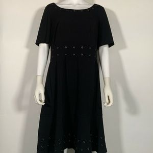 DKNY Dress Black Sz 16 Women NEW NWT 226